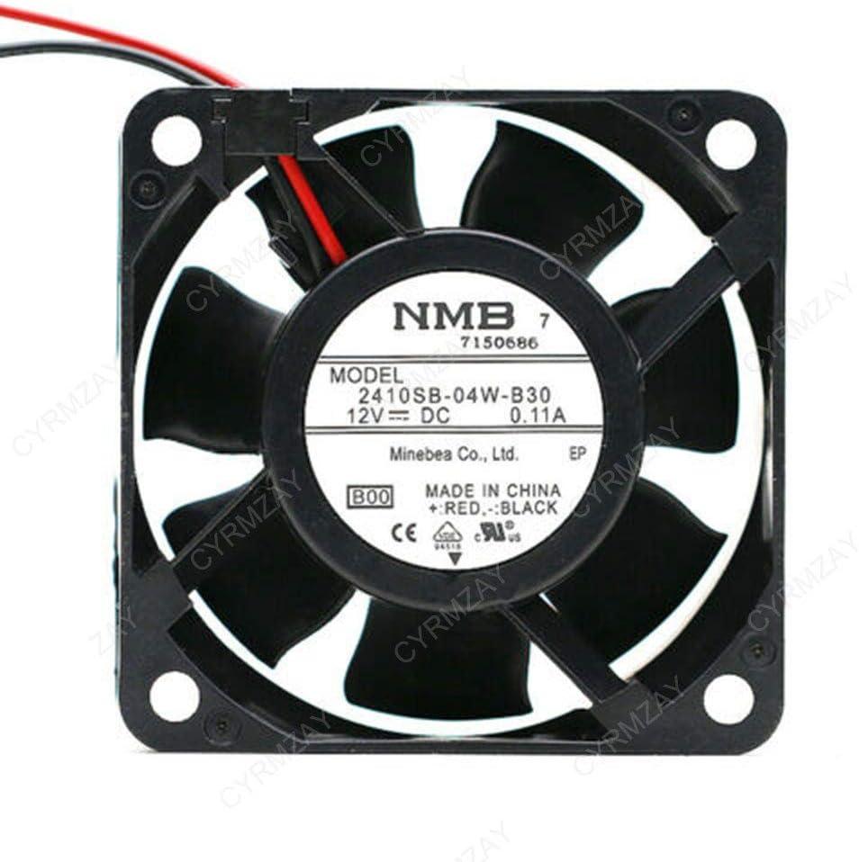 CYRMZAY Ventilador Compatible para NMB 2410SB-04W-B30 6025 60mm DC 12V 0.11A 3500RPM 16.9CFM 22,5 DBA Ventilador de refrigeración axail
