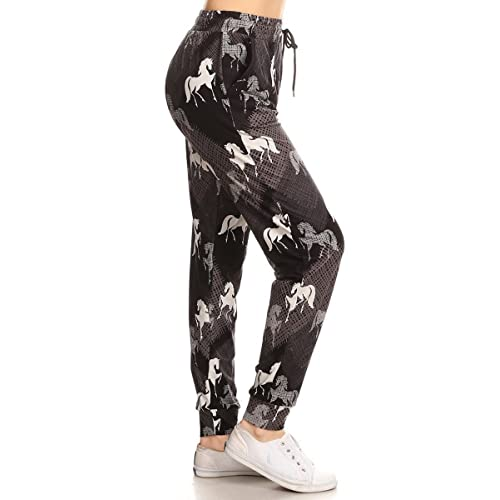0d85d7b0ed50 Leggings Depot Premium Jogger Women's Popular Print High Waist Track ...