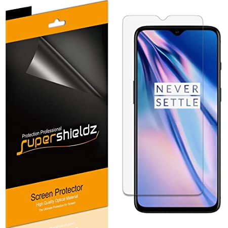 (6 Pack) Supershieldz Designed for OnePlus 7T Screen Protector, High Definition Clear Shield (PET)