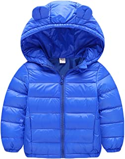 Lemohome Baby Boys Girls Winter Coats Hoods Light Puffer Down Jacket Outwear