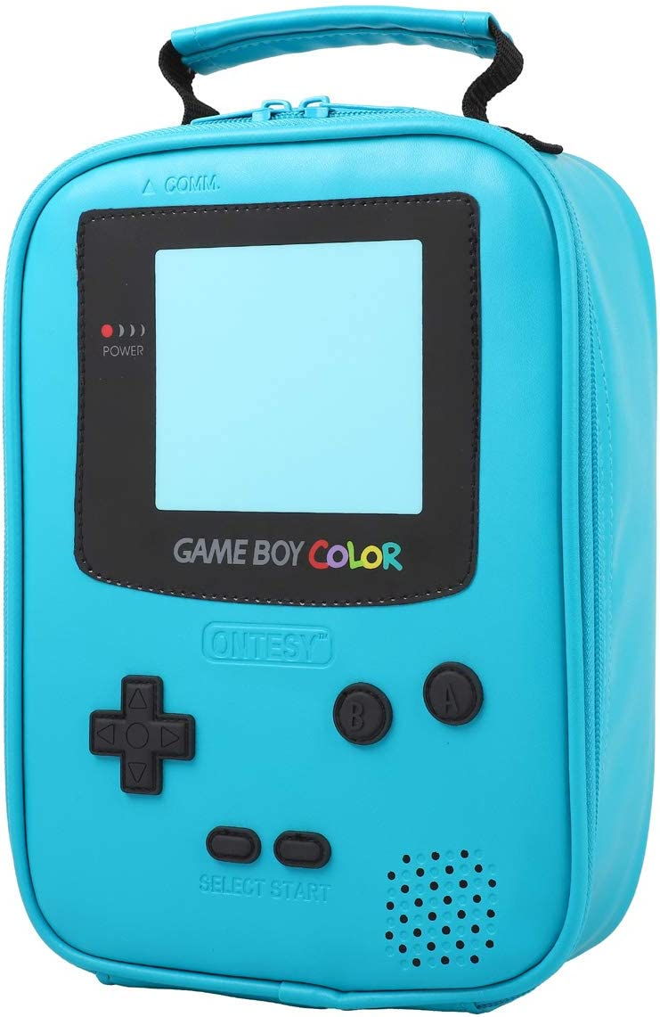 ONTESY Gameboy Leather Lunch Box Award Ins Reusable Thermal NEW Waterproof