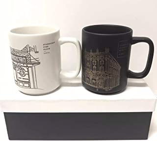 Starbucks Reserve Roastery Milano & Pike Place Seattle 2018 Mug Set Limited Edition in Gift Box, 12oz