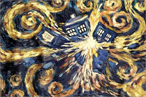 Poster Doctor Who - Exploding Tardis - preiswertes Plakat, XXL Wandposter
