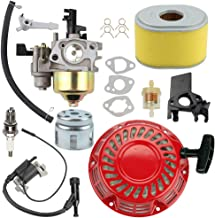 Trustsheer GX200 GX160 Carburetor Carb w Tune Up Kit Air Filter Ignition Coil Recoil Starter for Honda GX140 GX168 5HP 5.5HP 6.5HP Engine Motor Parts WP30X Water Pump Pressure Washer