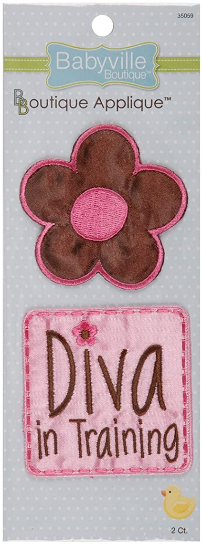 Babyville Boutique 35059 Appliques, Fun Flowers & Diva (2-Count)