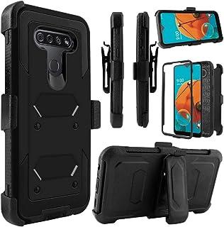 LG K51 Case, LG K51 Phone Case, with LG K51 Screen Protector Belt Clip Holster, Telegaming Heavy Duty Shock Absorption Hybrid Amor Phone Case for LG K51 -Black