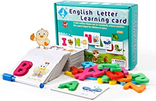 HOODLi English Letter Learning Card / Early Education Toy for kids / Kids activity kit / Colorful Letters with Attractive ...