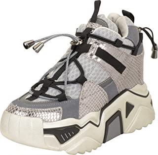 Cambridge Select Women's Retro 90s Ugly Dad Chunky Platform High Hidden Wedge Fashion Sneaker