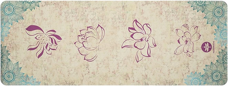 HCJYJD Tapis de Yoga en Caoutchouc Naturel Spécialité Tapis de Fitness Non-Slip Widen Fold Couverture de Yoga (Couleur    9, Taille   4mm)