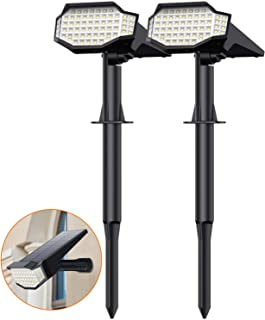 Lampada Solare Giardino, 2 in 1 Faretti Solari Led Esterno【66 LED-2200mAh】Lampade Solari a da Led Esterno IP65 Impermeabil...