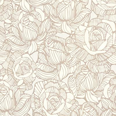 Beacon House Calista Beige Modern Rose Wallpaper
