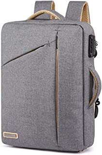 Mens Bag 43 * 31 * 8cm Business Gray, Black Laptop Bag Waterproof File Package Large Capacity, With Password Lock, Waterproof And Wearable, Safe And Environmentally Friendly Material, High capacity