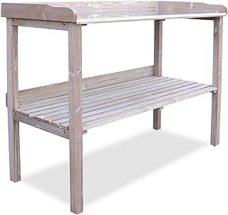 HABAU 3108 - Mesa de jardín con encimera galvanizada,