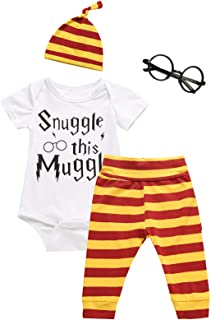 Crazybee 3Pcs/Set Baby Boy Girl Infant Snuggle This Rompers