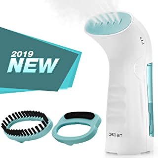 DB DEGBIT Portable Fast Heat-Up Steamer for Clothes, Handheld Travel Garment Steamer, Powerful Wrinkle Remover with 360°Anti-Leak, 100% Safe Auto-Off Clothing Fabric Steamer (White & Blue)