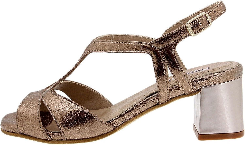 PieSanto Komfort Damenlederschuh 1495 Sandalette bequem breit