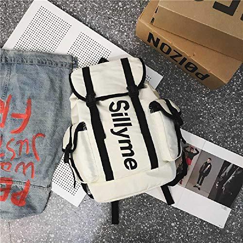 ghjg Sac à Dos Sac à Dos Casual Large Capacity Collegebag Fashion Trendy Urban Backpack Sac à Dos Gris