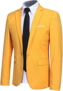Macondoo Mens Corduroy Casual Sport Coat Two Button Notched Lapel Blazer Jacket