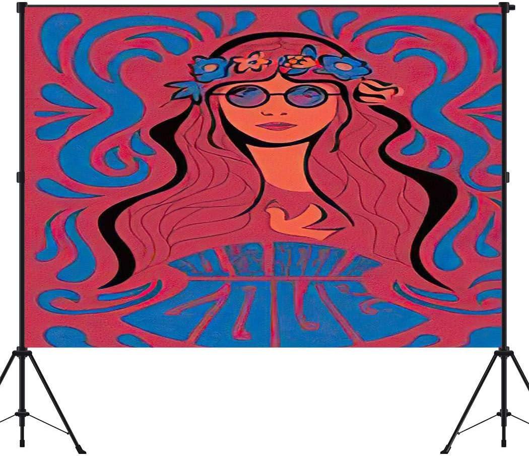 Aoyuntu 10x10ft Hippie Washington Mall Photography Psychedel Background Backdrop Jacksonville Mall