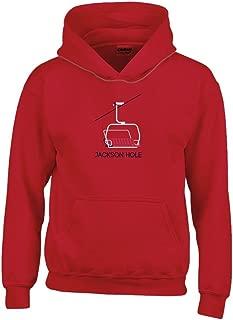 Jackson Hole Chairlift Youth Hoodie - Wyoming Kid's Sweatshirt
