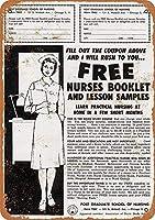 Learn to Be a Nurse ティンサイン ポスター ン サイン プレート ブリキ看板 ホーム バーために
