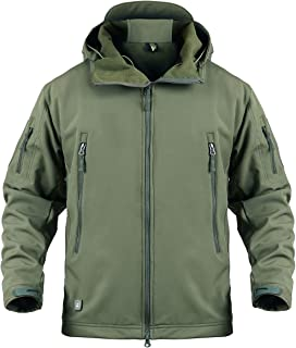Men's Army Special Ops Military Tactical Jacket Softshell Fleece Hooded Outdoor Coat