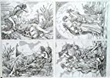 Decoupage Decopatch Soft Papier Bogen vier Griechische Bilder als Motiv