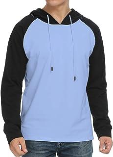 KUYIGO Mens Casual Slim Fit Long Sleeve Hoodie Lightweight Basic Designed