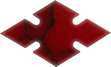 Incudo Precision IP001899 10mm Notched Diamond Inlays - Bloody Basin Jasper (Pack of 10)