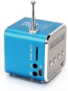 Portable Mini Stereo FM Radio MP3 Speaker Music Player Support Micro SD