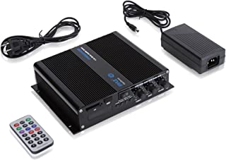 Pyle 6-Channel Audio Marine Amplifier - Compact Power 600 Watt RMS 4 OHM Full Range Stereo with Volume Bass Treble Rotary ...