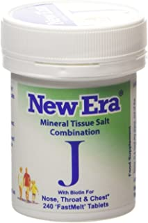 New Era Combination J Mineral Cell Salts (TISSUE SALTS) 240 Tablets NOSE, THROAT, CHEST
