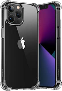 UGREEN Clear Case Compatible with iPhone 13 Pro Max Transparent Cover TPU Protective Case with 4 Corners Bumper Shockproof...