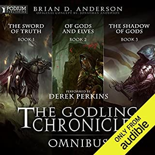 The Godling Chronicles Omnibus     Books 1-3              By:                                                                                                                                 Brian D. Anderson                               Narrated by:                                                                                                                                 Derek Perkins                      Length: 35 hrs and 55 mins     2,103 ratings     Overall 4.3