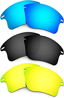 Hkuco Mens Replacement Lenses For Oakley Fast Jacket XL Sunglasses