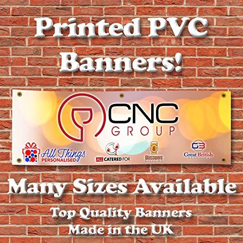 Personalisierbares bedrucktes PVC-Banner 91 cm x 6 m Außenschild