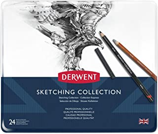 Derwent Sketching Collection, Metal Tin, 24 Count (34306)
