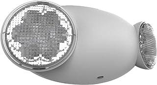 Dual-Lite PGZ Emergency LED Sconce Wet Location Dark Bronze Finish
