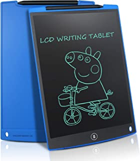 Updated 12 Inch LCD Writing Tablet Doodle Pad Drawing Board Office Whiteboard Fridge Memo Magnet Message Boards Gifts for All Ages (Blue)