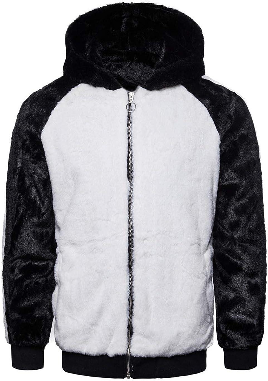 Haellun Men's Full Zip Sherpa Fleece Hoodie Jacket Soft Warm Winter Fuzzy Coat