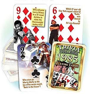 Flickback Media, Inc. 1985 Trivia Playing Cards: Great Birthday or Anniversary