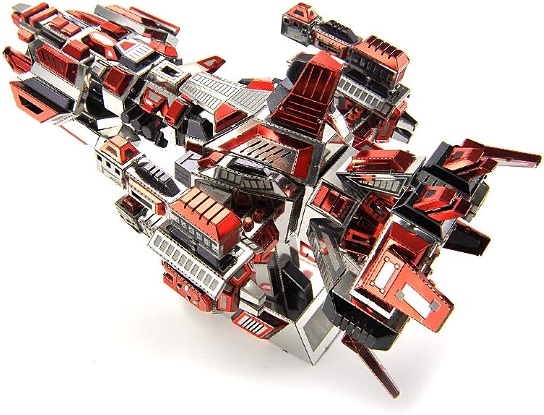 Metal Puzzle,Home Decoration 3D DIY Assemble Adult Model Building,Kits Laser Cut Puzzle Toy (Flameship)