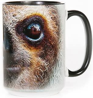 The Mountain 57359609001 Sloth Face Coffee Mug, 15 oz, Black