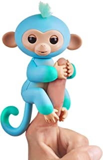 Fingerlings 2Tone Monkey - Charlie (Blue with Green Accents) - Interactive Baby Pet