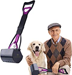 """SunGrow Dog Scooper for Senior Citizen, 24"""" Long Handle Removes Mess Quickly"""