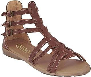 cklass 791-25 Zapato Sandalia Mujer Tipo Piel Color Camel Hebillas Lateral