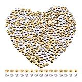 PandaHall Elite 400Pcs Perline Distanziatori Rondelle Perline Ottone Spacer Beads per Braccialetti collane Gioielli Fai da Te Perline Accessori per bigiotteria Argento Oro