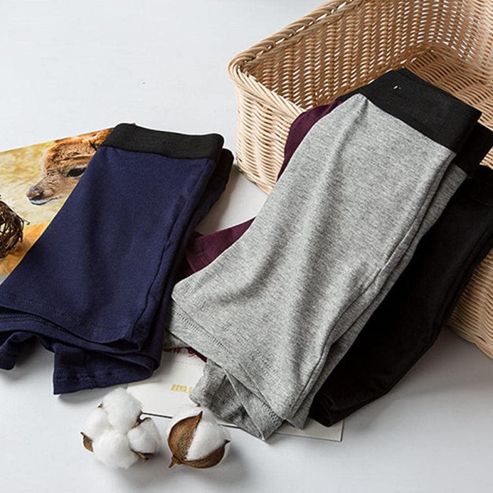 Men'S Underwear 4Pcs/Lot Men'S Shorts Panties Underwear Boxer For Man Cotton Underpants Pouch Take Off Male Husband Thermal Breathable Trunks-2Grey2Winered_Xl