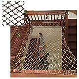 Protective Net Brown Nylon Net, Garden Decoration Net Balcony Safety Net Stairs Children Anti-Fall Net Kindergarten Protective Net Portable Fence Net Can Be Cut 1x2m3m4m (Size : 12m(37ft))