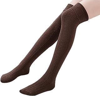 01ad8618e8c Ordenado Womens Spring Sexy Over Knee Leg Warmer Crochet Thigh High Boot Socks  Girls Leggings